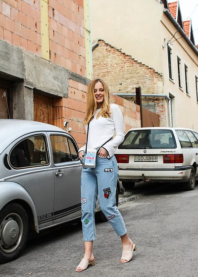 Get this look: http://lb.nu/look/8643321  More looks by Tímea Tóth: http://lb.nu/roaststyle  Items in this look:  F&F Blouse, Aliexpress Bag, Bershka Mom Fitted Jeans, Primark Heeled Slippers   #romantic #street #vintage #bershka #fandfclothing #primark #primania #fashionblog #fashionblogger