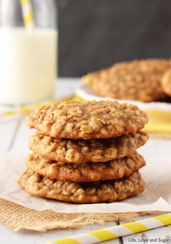 Moist and Chewy Banana Oatmeal Cookies - Life Love and Sugar