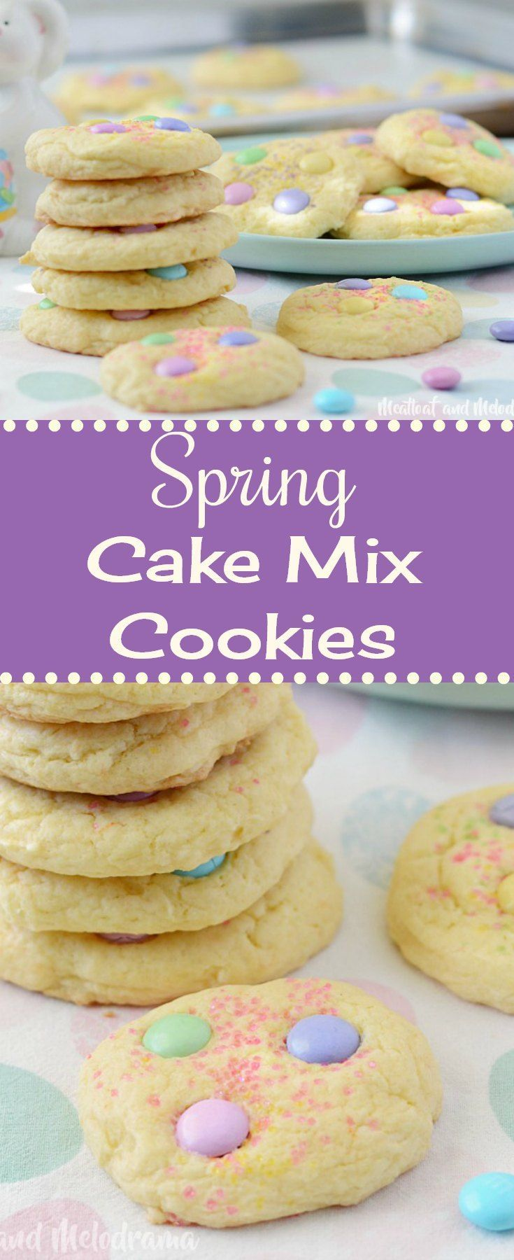 Spring Cake Mix Cookies – Soft and tough biscuits made from yellow cake mix and ….   – Kekse Rzepte
