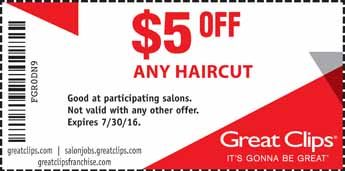 Great Clips Coupon: $5 Off Any Hair Cut