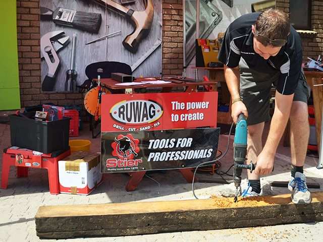 Demonstrations by various manufacturers took place during the day. #demonstrations #tools #diy