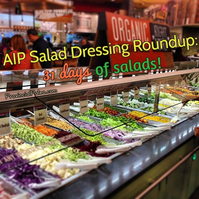 A roundup of 31 delicious AIP salad dressings to provide some variety and liven up your salads!