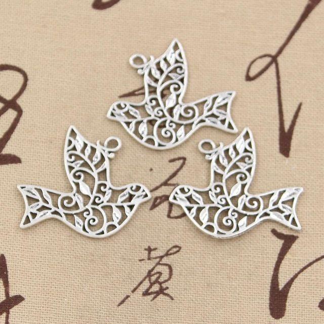 10 шт. подвески голубь мира 36 * 32 мм античная подвеска подходящие, Старинные тибетского серебра, Diy для браслета ожерелье