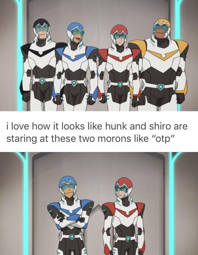 hunk and shiro ship klance