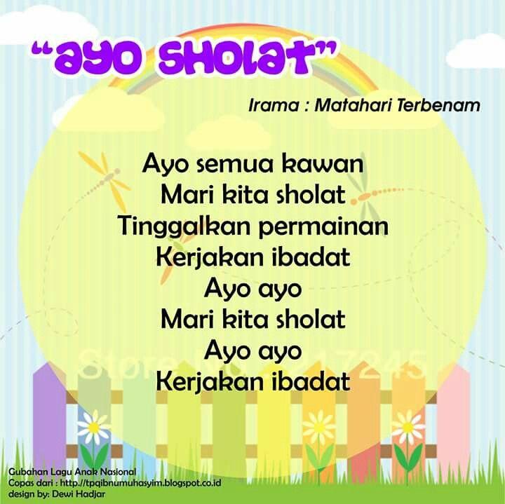 Ayo Sholat (original song Matahari Terbenam)