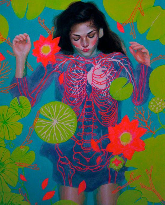 Aj Chu: Artists, Aj Chu, Art Paintings, Color, Illustrations, Bright Colour, Neon, High Schools Senior, Posts