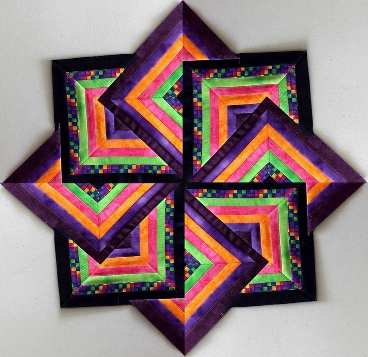7 Layer Cake Quilt  or Table Center  - 19 in Purple Robert Kaufmann - Last One #RobertKaufmanFabrics