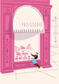 Such an adorable greeting card (by Lab Partners)! Paris, Stores Front, Dachshund, Illustration, Labs Partner, Greeting Cards, Book Covers, Wiener Dogs, Pink Cake
