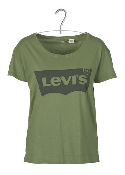 Tee-shirt col rond sérigraphie Levi's Vert by LEVIS