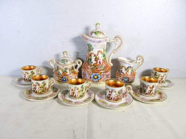 Capodimonte Cherub Coffee Set