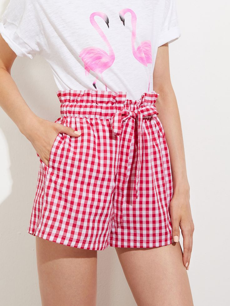 Shop Ruffle Drawstring Waist Gingham Shorts With Hidden Pocket online. SheIn offers Ruffle Drawstring Waist Gingham Shorts With Hidden Pocket & more to fit your fashionable needs.