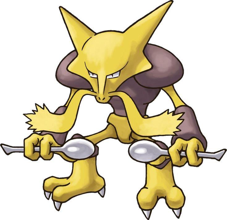 Alakazam (フーディン Foodin?) es un Pokémon de tipo psíquico. Es la tercera y última etapa de Abra. A partir de Pokémon X y Pokémon Y puede mega...http://hechosyvidas.blogspot.pe/2016/09/alakazam.html