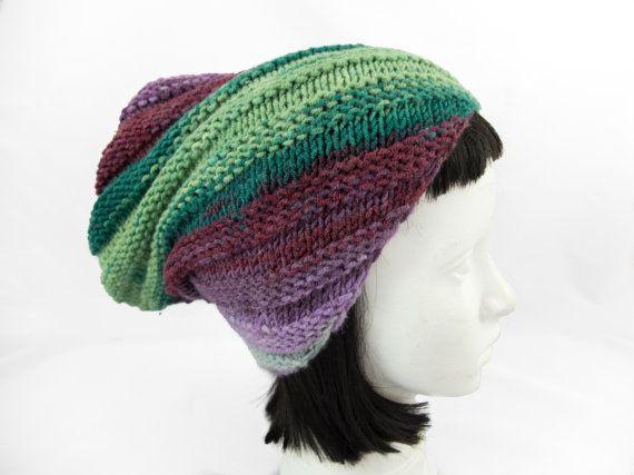 Womens knit beanie/knit hat/oversized hat/knit swirl by Jousilook