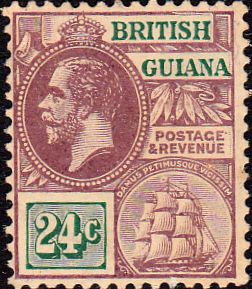 British Guiana 1921 George V Head and Ship Fine Used SG 275 Scott 194 Other West Indies Stamps HERE