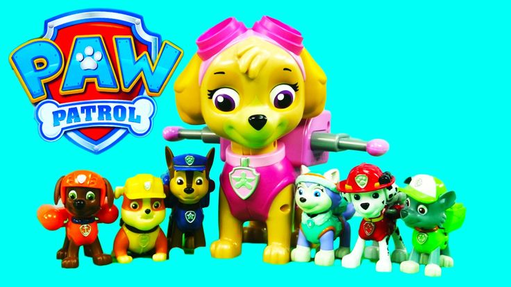 PAW PATROL TOYS JUMBO ACTION PUP SKYE TOY REVIEW Paw Patrol Attack of th...