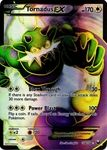 Name: Tornadus-EX Manufacturer: Nintendo / GameFREAKS Series: Dark Explorers Release Date: May 9, 2012 Card Number: 108 Card Rarity: Super Rare Holo Condition:  *Notes: Cards may be normal or reverse foil we do not differentiate between the two.