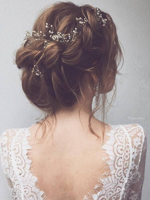 Ulyana Aster Long Wedding Hairstyles & Wedding Updos / http://www.deerpearlflowers.com/romantic-bridal-wedding-hairstyles/5/