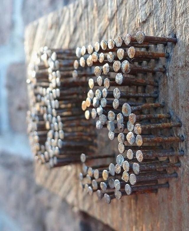 rusty nails to unique house number - #Detournement #House #nails #number #rusty