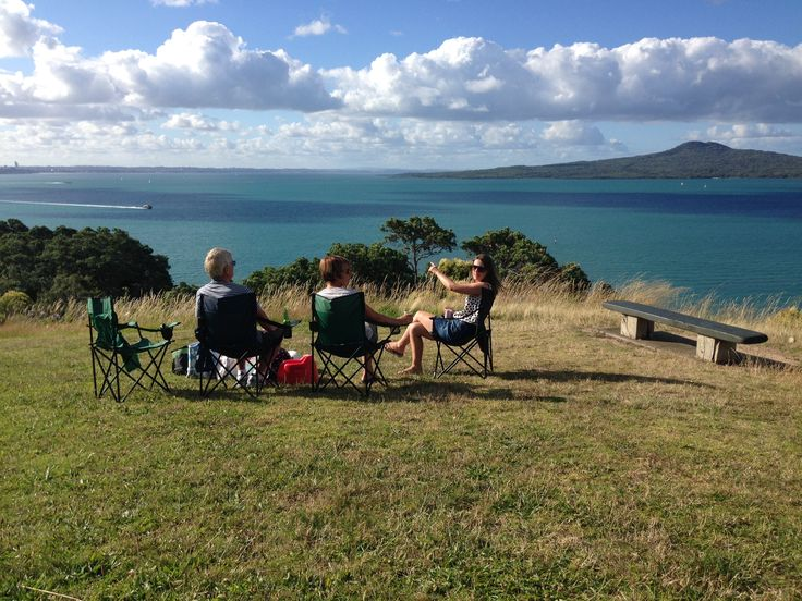 A secret picnic spot in St Heliers overlooking Auckland city, Rangitoto Island, Waiheke and Browns Island.