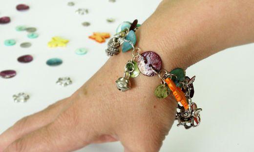 Charms bracelet - colourful idea for autumn days! Hobby Art Chemaco