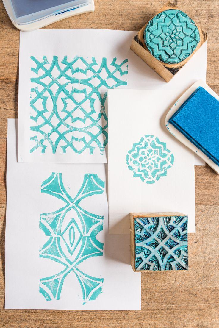 diy stempel schnitzen stamps pinterest nicht perfekt fliesenmuster und das wochenende. Black Bedroom Furniture Sets. Home Design Ideas