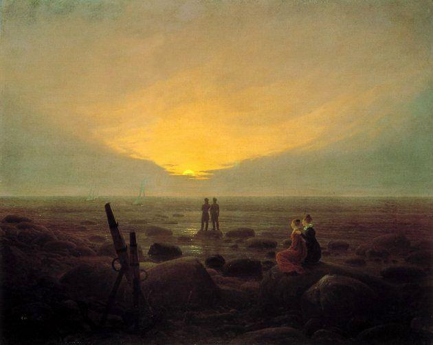Luna nascente sul mare, 1821