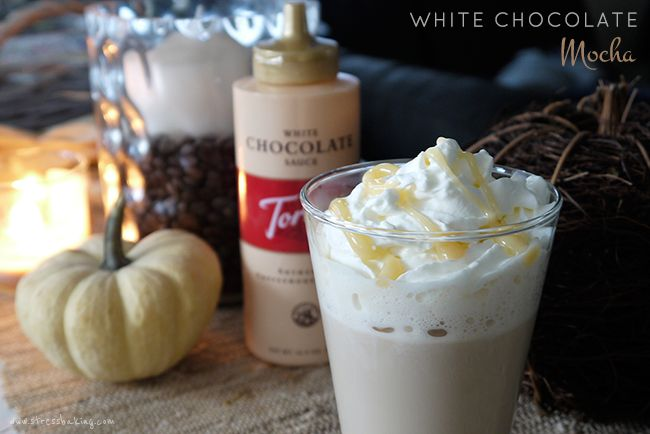 White Chocolate Mocha   Stress Baking. The perfect Starbucks copycat recipe with less calories! Espresso is beautifully complemented by creamy, smooth Torani white chocolate sauce to create an indulgent beverage perfect for a cold winter's day.