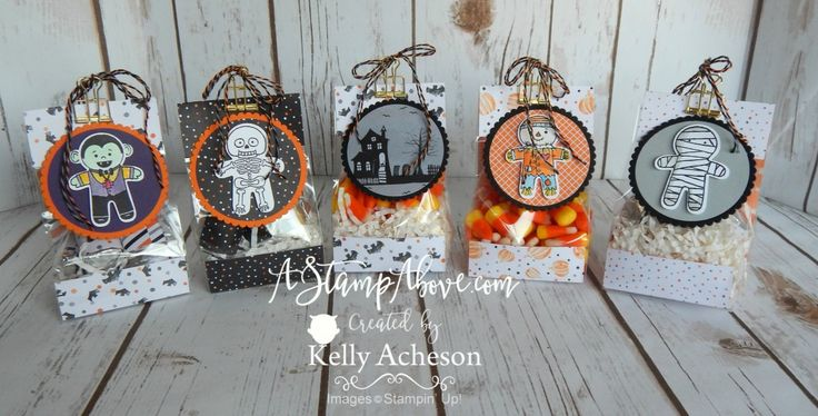 Gusseted Treat Bags - BOO! - I have a video tutorial and more details/photos on my blog here: http://astampabove.typepad.com/my-blog/2016/08/feature-friday-video-sneak-peek-halloween.html Thanks for looking!