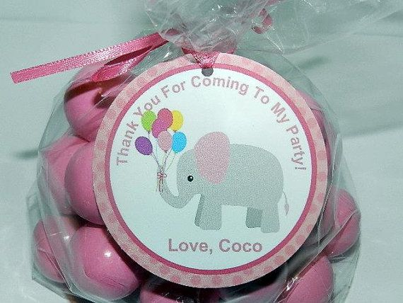 Elephant Birthday - Elephant Birthday Decorations-Elephant Favor Tags- Elephant Birthday Party on Etsy, $9.00