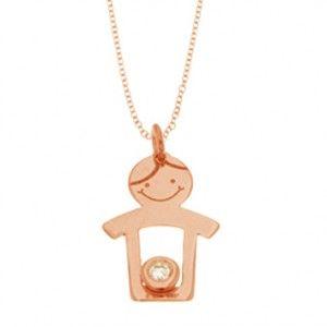 Cadena y colgante niño oro 18 Ktes con #diamantes  #JoséLuIsJoyeroBasic