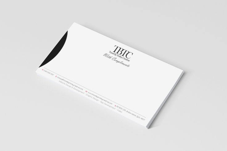 With Compliments slip design for the old business name - Travel By Trolley Creative