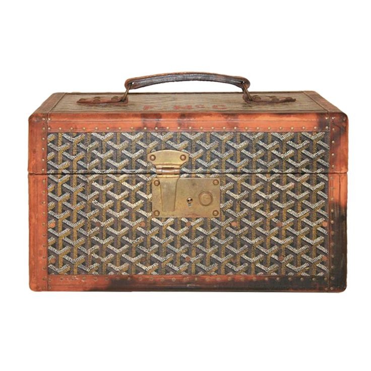 Rare Early Maison E. Goyard Small Carry On Toiletry Trunk at 1stdibs