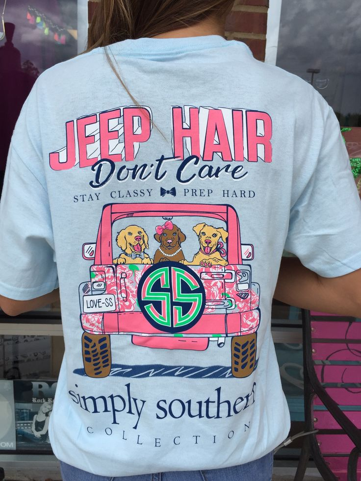 "Simply Southern ""Jeep Hair"" Tee - Blue from Chocolate Shoe Boutique"