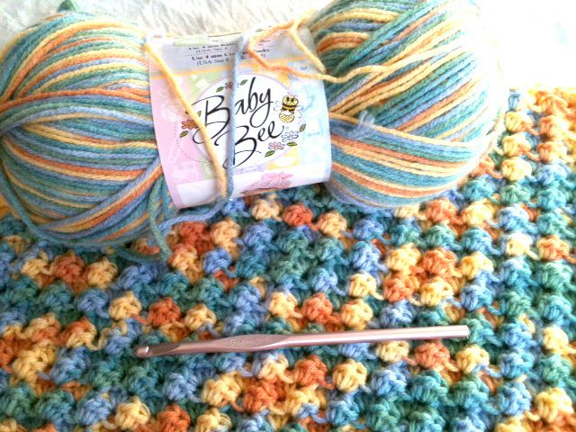 Bushy Stitch Crochet Baby Blanket