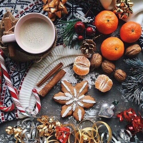 christmas, nuts, and coffee kép