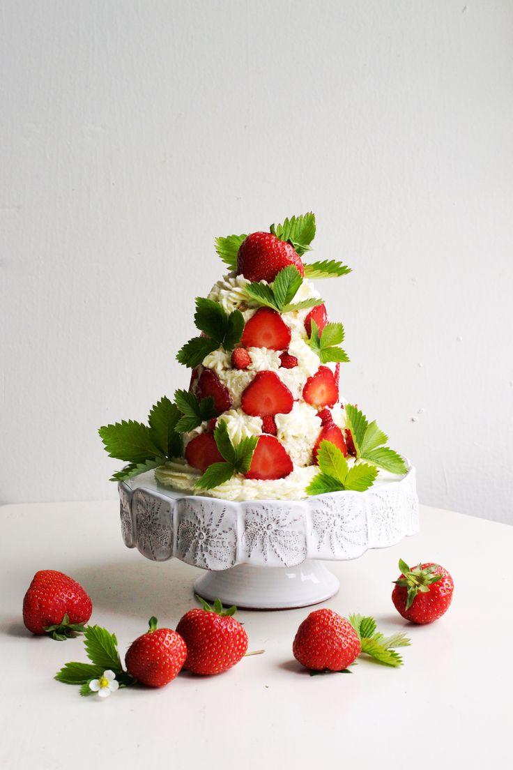 Den här sommartårtan kanske ser avancerad ut, men den är löjligtenkel att göra.Det räcker att du bakar enenda sockerkaka i långpanna (det tar bara en kvart), så har du bottnar till tvåtjusiga våningstårtor i miniversion! Tårtan är riktigtfräsch och innehållerfärska jordgubbar, vispad grädde och bottnarmed en rejäl smak av citron. Sedan finns det en hemlig...