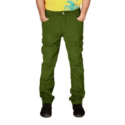 #Uber #Urban offers #Men's Non Stretch #Corduroy Regular Fit #Green #Trouser at Just Rs.799 Get more #offers at #Uberurban.in