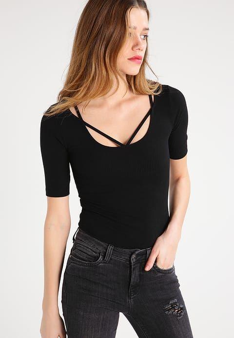 Even&Odd T-shirt z nadrukiem - black - Zalando.pl