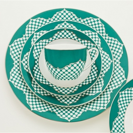 Fez Turquoise Collection, 20 piece fine bone china set - Hard to find