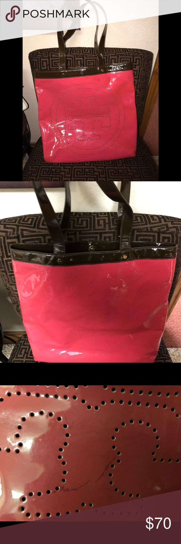 Tory Burch Pink Patent Leather Tote Tory Burch Pin…  #AestheticButtockSurgical…