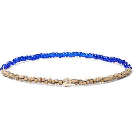 14-karat Gold, Turquoise And Wood Bead Bracelet Luis Morais