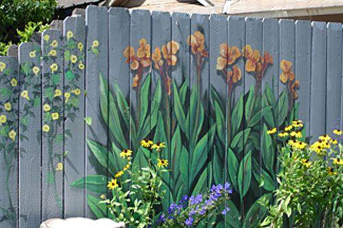 Beautiful Painted Fence Garden Ideas Pinterest