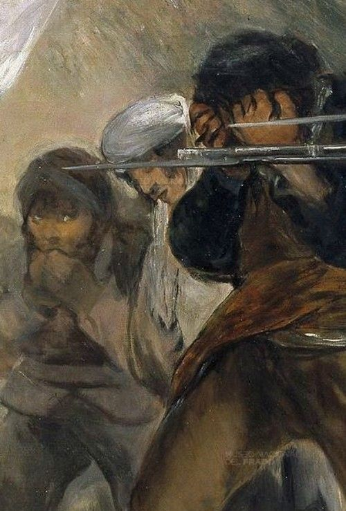 Detail from The Third of May 1808 (Execution of the Defenders of Madrid), Francisco de Goya