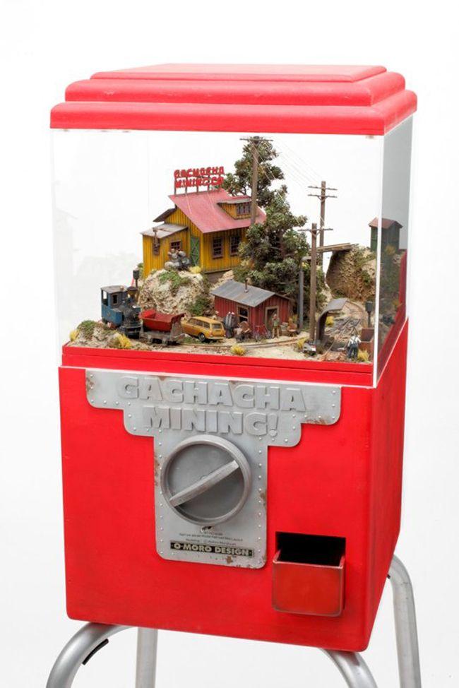 Everyday objects turned into miniature worlds by Japanese artist Akihiro Morohoshi