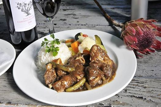 Ward off the Winter Chills with a delicious Lamb Bredie! Prepared with the finest of ingredients and herbs, served with rice and vegetables of the day! Shall we reserve a table?