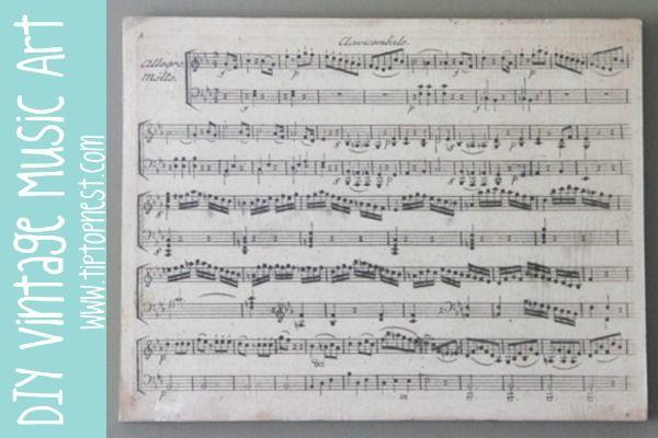 Sheet Music Wall Art easy vintage sheet music art tutorial - no actual vintage music