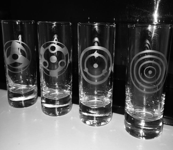 Set of 4 Naruto Themed Shot Glasses by EmbellishedBirthdays on Etsy https://www.etsy.com/listing/285362833/set-of-4-naruto-themed-shot-glasses
