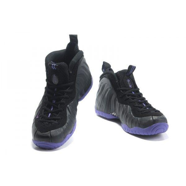 nike air foamposite pro black varsity purple