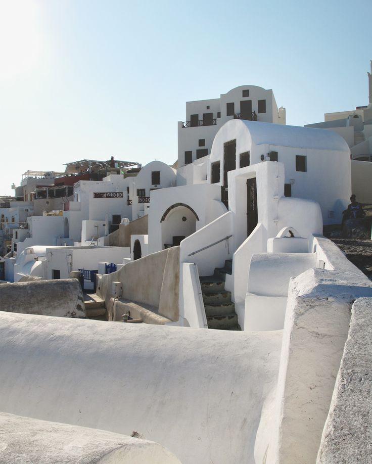"""(@archi.traveller) on Instagram : \"""" White greek home \"""" Santorini, Greece"""
