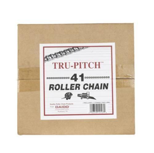 "Tru-Pitch TRC41-MD Roller Chain 1/2"" x 10' Steel"